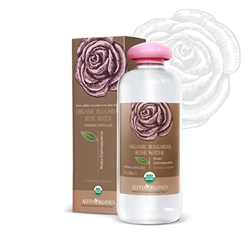 Bulgarian Rosewater (Alteya USDA Organic Bulgarian Rose Water (From New Rose Harvest) - EXTRA LARGE, 17fl oz/500ml, 100% Pure, From Alteya's Bulgarian Rose Fields and Distillery …)