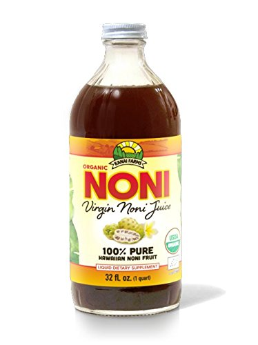 Virgin Noni Juice - 100% Pure Organic Hawaiian Noni Juice - 32oz Glass Bottle by Virgin Noni Juice (Image #2)