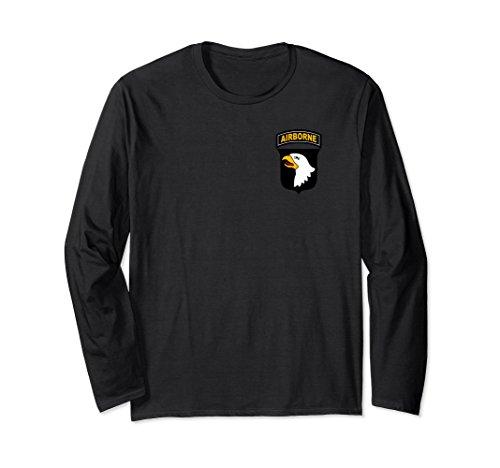 Unisex 101st Airborne Military Paratrooper Vintage Style T Shirt 2XL Black