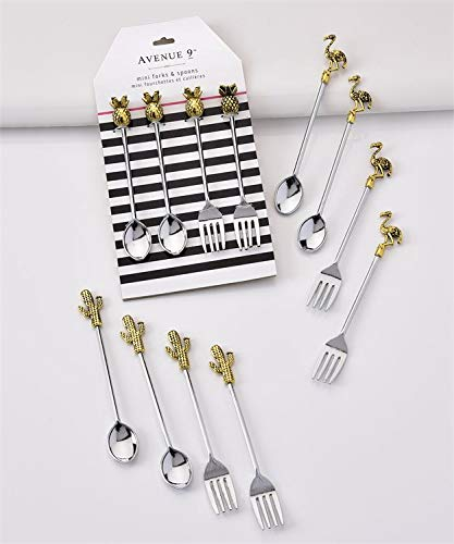 Giftcraft Avenue 9 Mini Forks and Spoons Appetizers Hor D'Oeuvres, Set of Twelve