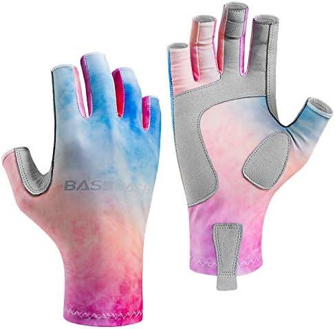 Bassdash アルティメイト UPF 50+ レディース 釣り用グローブ 紫外線保護 指なし手袋 カヤック パドリング ハイキング サイクリング ドライビング シューティングトレーニング用