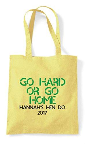 Tote Go Home Do Customised Lemon Party Hard Bag Shopper Personalised Or Hen qwB8n