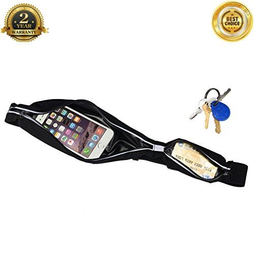 Black Neoprene Cell Phone Pouch - 4