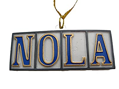 New Orleans NOLA tile Christmas Ornament New Orleans Ornament favor memento souvenir decor decoration destination wedding gift French Quarter ornament theme party hostess gift w/ Pouch