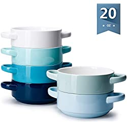 Soup Bowls with Handles Set of 6