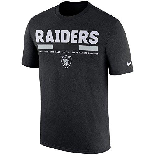 Oakland Raiders Nike Sideline Legend Staff T-Shirt - Black - Small