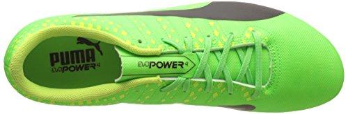 Puma Herren evoPOWER Vigor 4 FG Fußballschuhe, 45 EU Grün (green gecko-puma black-safety yellow 01)