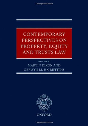 Contemporary Perspectives on Property, Equity and Trust Law by Oxford University Press