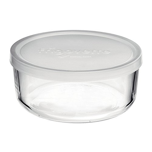 (Bormioli Rocco Frigoverre Round Storage Container with Frosted Lid, 24-3/4-Ounce)