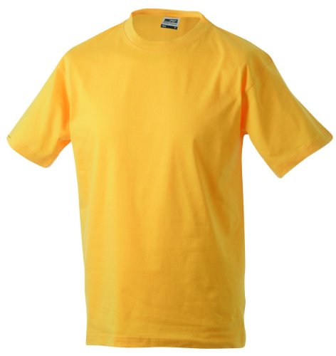 t 5xl S Round Print T Manches yellow heavy Rond Courtes Gold Taille À jersey shirt Homme shirt Single Col wpSa0wq