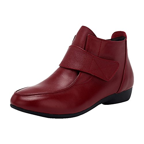 LIANGJUN Ankle Boots Women's Shoes Low Heels Outdoor Sports Spring, 9 Sizes Available, 4 Colors ( Color : Red , Size : EU42=UK7.5=L:260mm ) Red