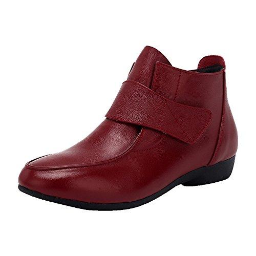 LIANGJUN Botines De Las Mujeres Zapatos Tacones Bajos Deportes Al Aire Libre Primavera, 9 Tamaños Disponibles, 4 Colores ( Color : Rojo , Tamaño : EU42=UK7.5=L:260mm ) Rojo