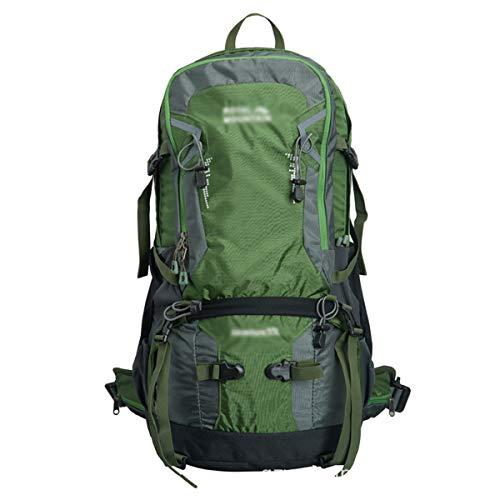 AEMAX Leichter Reiserucksack, 35L Outdoor-Sport-Bergsteigenbeutel, Wanderrucksack im Freien, der kampierenden Rucksack kletternd ist,Grün-60  33  24cm