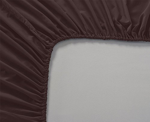 Eyelet Home Décor 100% Egyptian Cotton 1 Piece Fitted Sheet (Bottom Sheet Only) Fit Upto 18