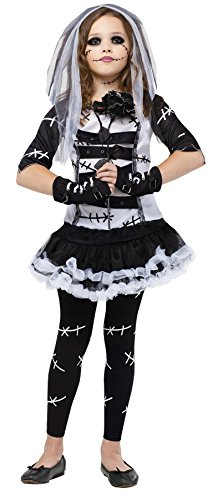 Fun World Little Girl's Lrg/Monster Bride Cstm Childrens Costume, Multi Color, Large -