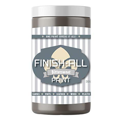 Finish All Paint, Color: Bittersweet (Warm Dark Gray) (32oz Quart)