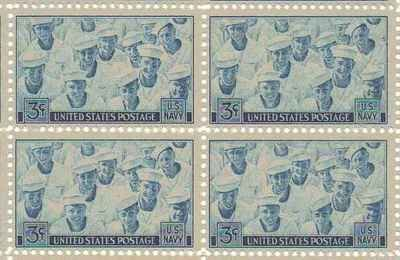 3 Cent Postage Stamp (U.S. Navy Set of 4 x 3 Cent US Postage Stamps NEW Scot)