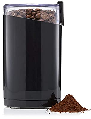 ArtMuseKits Electric Coffee Grinder, Spice Grinder, Stainless Steel Blades, 3 Ounce, Black, F203 (Best Gift for Everybody) from ArtMuseKits