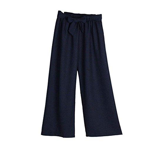 Dritti Casual Primaverile Donna Trousers Grau High Hell Larghi Autunno Chic A Bendare Abbigliamento Pantaloni Elastica Ragazza Eleganti Farfalla Moda Vita Cravatta Waist Lunga wdfacTq6