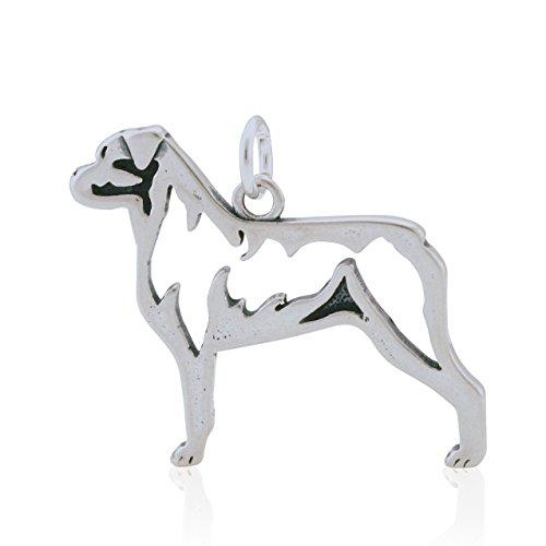 Sterling Silver Rottweiler Pendant, Body
