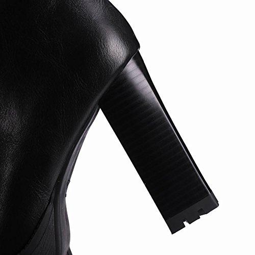 Donna Misssasa Platform Stivaletti Nero Elegante Boots wz0xTpRq0
