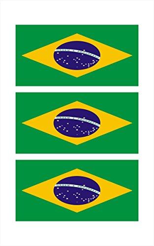 3 -Brazil Brasil Brazilian Flag Hard Hat Biker Motorcycle Helmet iPhone Stickers Decal