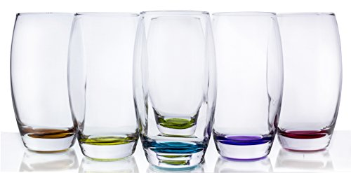 Prism Multi Colored Water/Beverage Glasses, 16 Ounce - Set of 6]()