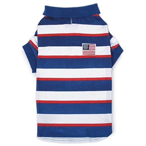Zack & Zoey Patriotic Pooch SPF40 Polo Shirt for Dogs, 8