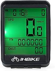 Andoer Velocímetro de bicicleta à prova d'água Computador de bicicleta sem fio Tela de LCD à prova de chuv