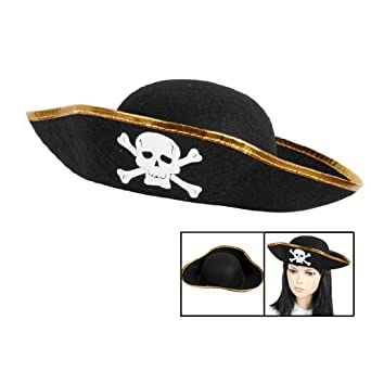 afb1fa74 Gleader Unisex Dressing Up White Skull Pattern Pirate Bucket Hat Cap: Amazon .co.uk: Clothing