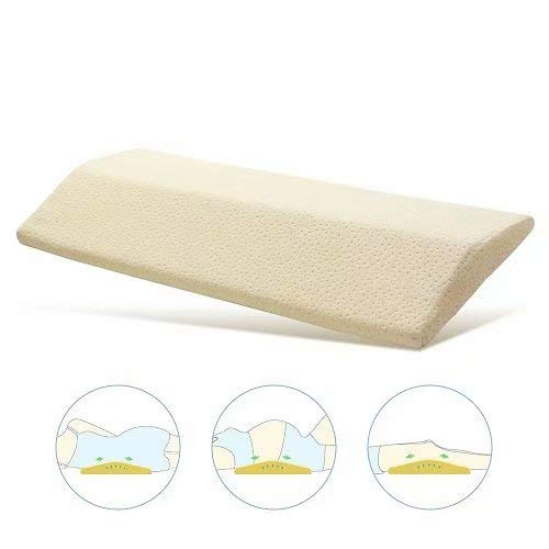 IKSTAR Lumbar Support Pillow for Sleeping, Memory Foam Bed Back Pillow for Lower Back Pain, Side Sleeper, Pregnant, Knee, Spine Alignment, Sciatic Nerve Pain Relief Therapeutic Pillows