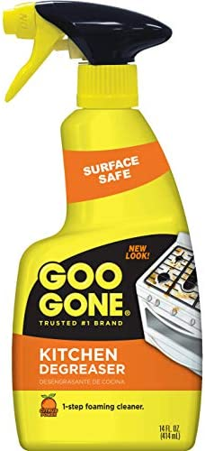 Goo Gone Kitchen Degreaser Removes Kitchen Grease Grime And Baked On Food 14 Fl Oz 2047 Amazon Com Grocery Gourmet Food