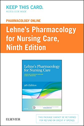 Books : Lehne's Pharmacology Online for Pharmacology for Nursing Care (Access Card)