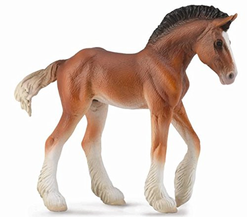 Coal Realistic Loads - Collecta Clydesdale Foal, Bay