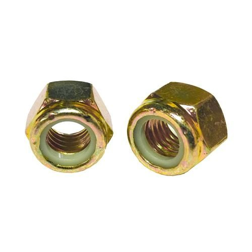 ((10) 1/2-13 Hex Nylon Insert LockNuts Grade 8 Zinc)