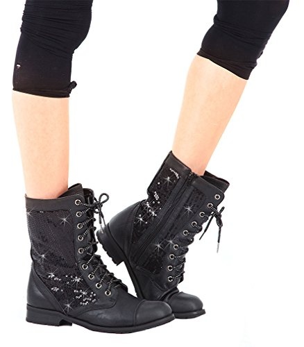 Gia Mia Girl's Kombat Boot,Black,3 M Little Kid