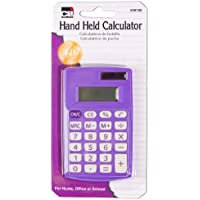 Charles Leonard Inc. Calculator - Hand Held - 8 Digit, Assorted Colors, 1/Card (39100)