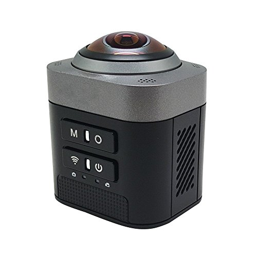 Wifi Sport DV,AnyGo D5 360 Degree Full View VR Camera Fisheye Sphere Video Camcorder-Black Action Cameras AnyGo
