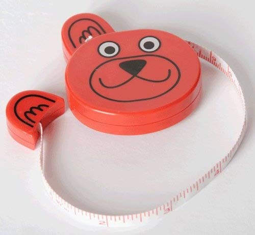 Groves B253.MET.ZOO.2/Bear | Red Metric & Imperial Bear Retractable Tape Measure 100cm