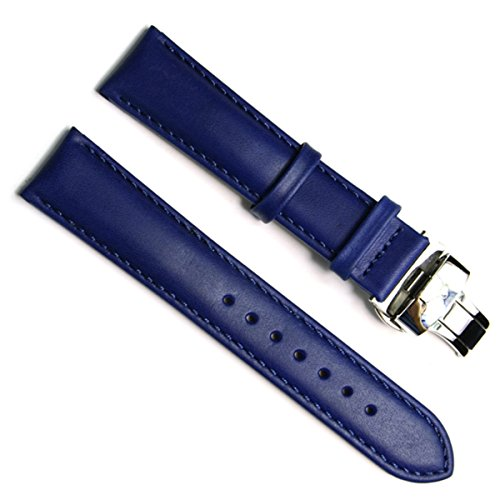 18mm Replacement Waterproof Genuine Leather Watch Strap W...