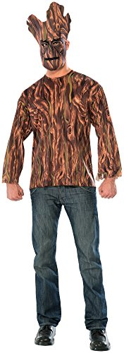 Groot Guardians Of The Galaxy Costume - Rubie's Costume Co Men's Guardians Of The Galaxy Adult Groot Costume Top and Mask, Multi, One Size