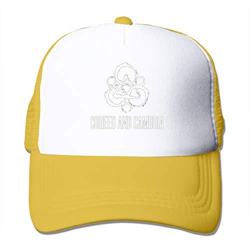 Junxiwf Coheed and Cambria Geek Unisex Adult Trucker Hat Mesh Cap Yellow ()