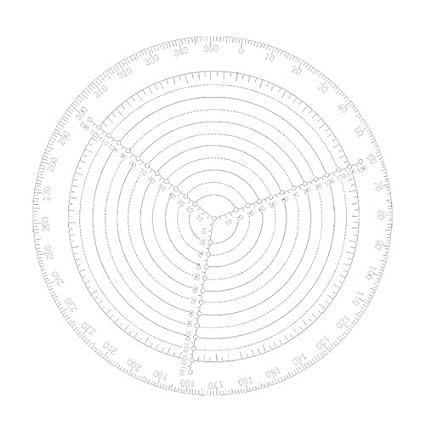 Naliovker Herramienta de Buscador Central Br/úJula de Carpinter/íA para Torneros de Madera Tazones Torno Trabajo C/íRculos de Dibujo de Acr/íLico Transparente Di/áMetro 300 Mm