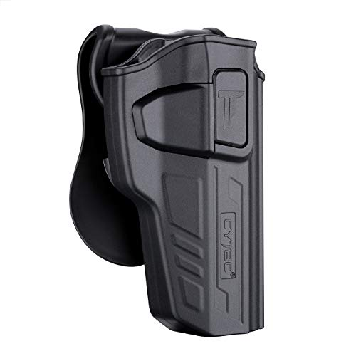 1911 5 inch OWB Holster Without Rail, Paddle Belt Holsters for Colt 1911 5