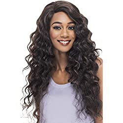 Vivica A Fox Hair Collection Antique Loose Deep Wave Swiss Lace Front, Color 1B, 12.9 Ounce