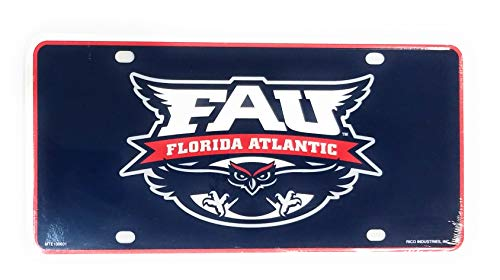 Stockdale Florida Atlantic Owls FAU Aluminum Metal Tag Novelty License Plate University ()