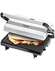 Bestron non-stick belagd smörgås/panini-kontaktgrill 700 Watt Vit