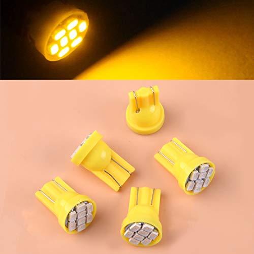 5pcs Cab Roof Amber DC 12V Marker Lamp Light Super T10 8-SMD 1210SMD LED Bulbs Fit For Ford F250 F350 F450 F550 F650