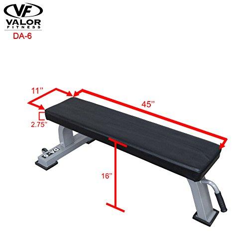 Valor Fitness DA-6 Flat Bench by Valor Fitness (Image #5)'