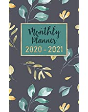 """monthly planner 2020-2021: 2 year calendar pocket planner ( 5 x 8 """" small size ) : 24 month : January 2020 - December 2021 : time management / Schedule Organizer / Appointments : cute flower watercolor"""